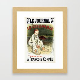 Le Coupable, The Guilty One Framed Art Print