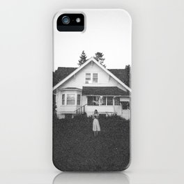 Ghostly Girl in the Garden - Holga Black and White Photograph iPhone Case