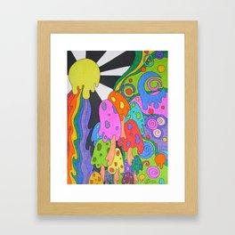 Melting Mushrooms Framed Art Print