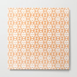 Native American Pattern Orange Metal Print