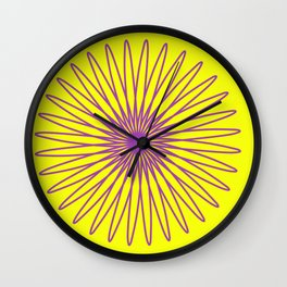 Purple and Yellow Wall Clock