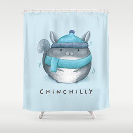 Chinchilly Shower Curtain