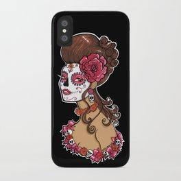 Glamorous Sugar Skull Girl iPhone Case