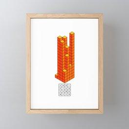 Magic square of Jupiter in 3D / Talisman Framed Mini Art Print