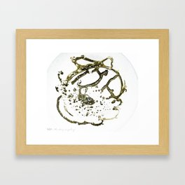 fish disintegration Framed Art Print