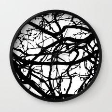 black branches Wall Clock