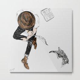 Hipster Kittens Metal Print