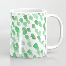 Imperfect brush strokes - green Coffee Mug