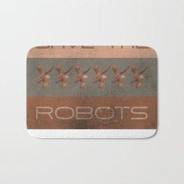 Save The Robots Bath Mat