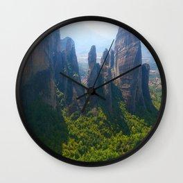 Meditation up to Meteora   Greece   Nature Wall Clock