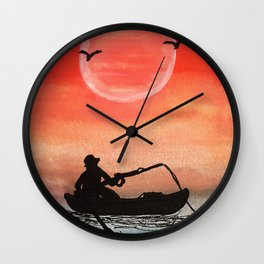Patience and Solitude Wall Clock