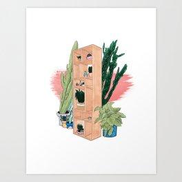 Office Plants Art Print