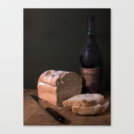 """There is a communion of more than our bodies when bread is broken and wine drunk. "" Canvas Print"