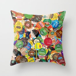 KCup Collage Throw Pillow