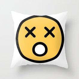 Smiley Face   Dead Open Mouth Throw Pillow