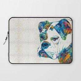 Colorful English Bulldog Art By Sharon Cummings Laptop Sleeve