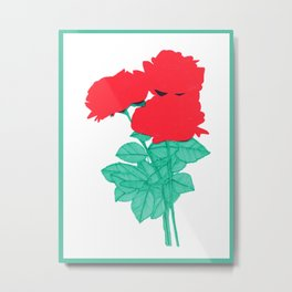 Third Rose Metal Print