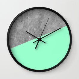 Geometry 101 Mint Meringue Wall Clock
