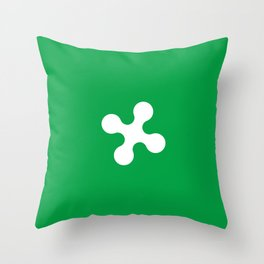 flag of lombardy Throw Pillow