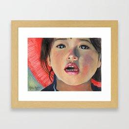 LITTLE GIRL FROM ANTOFAGASTA DE LA SIERRA Framed Art Print