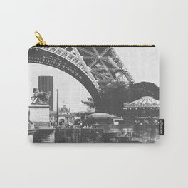 Paris Life Black and White Carry-All Pouch