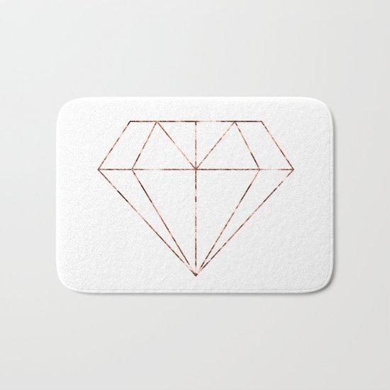 Rose gold foil diamond Bath Mat