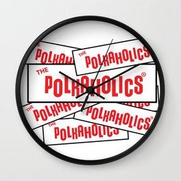 The Polkaholics - Bumper Stickers Wall Clock