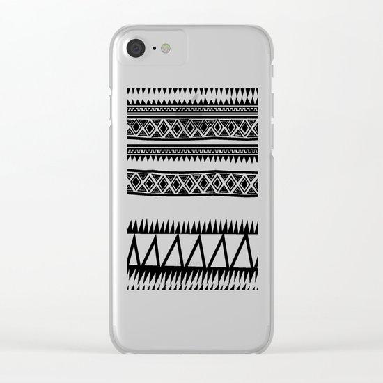 MALOU ZEBRA Clear iPhone Case