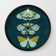 Lepidoptery No. 8 by Andrea Lauren  Wall Clock