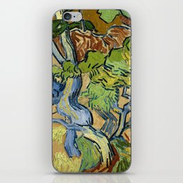 Tree Roots by Vincent van Gogh (July 1890) iPhone Skin