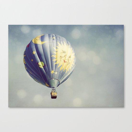 Moon and Stars Hot Air Balloon Canvas Print