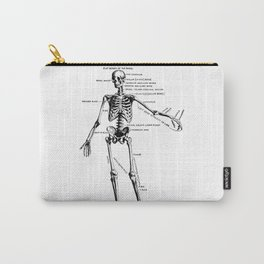 Human Skeleton Anatomy Drawing Diagram Carry-All Pouch