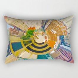 Downtown Kansas City Tiny Planet Rectangular Pillow