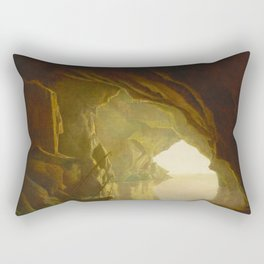 Joseph Wright of Derby - A Grotto in the Gulf of Salerno, Sunset Rectangular Pillow