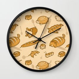 Live, Laugh, Loaf Pattern Wall Clock