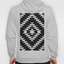 Urban Tribal Pattern No.14 - Aztec - Black Concrete Hoody