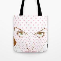 Pop art face Tote Bag