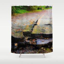 Broken Road Shower Curtain
