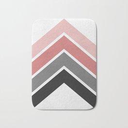 Pink and gray bands Bath Mat
