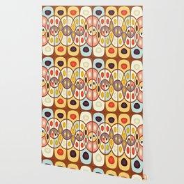 Wavy geometric abstract Wallpaper