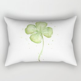 Clover Four Leaf Lucky Charm Green Clovers Rectangular Pillow