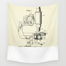 Microscope and Counting Chamber Therefor-1948 Wall Tapestry
