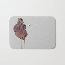 This is not a colorful heart Bath Mat