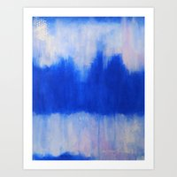 Patches of Blue Art Print