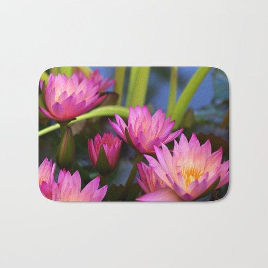 water lily Bath Mat