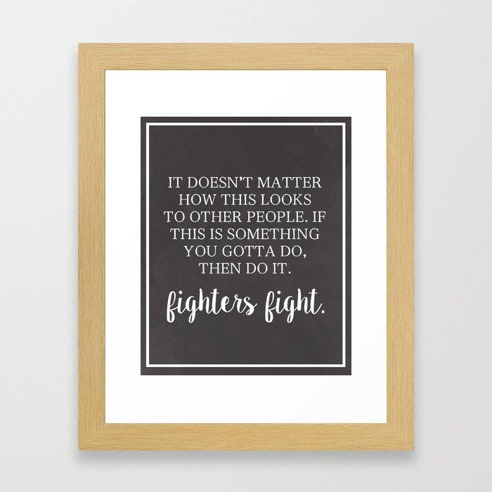 Fighter's Fight Framed Art Print