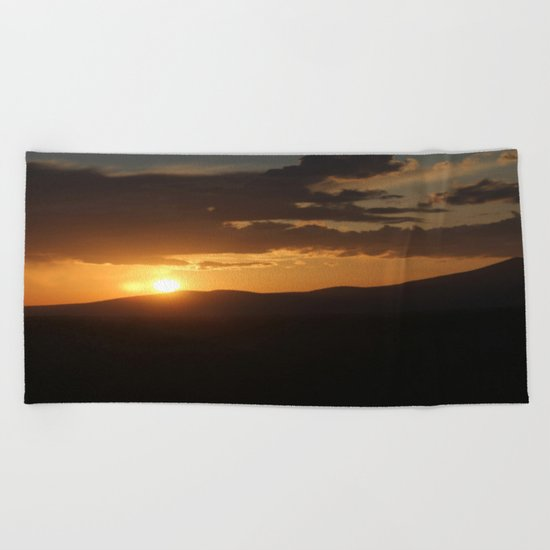 Smith Rock Sunrise Beach Towel