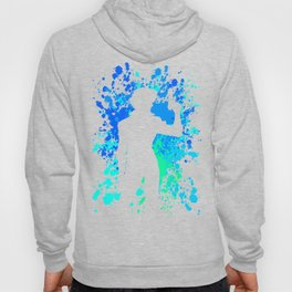 Anime Paint Splater Inspired Shirt Hoody