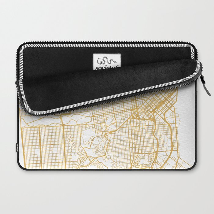 SAN FRANCISCO CALIFORNIA CITY STREET MAP ART Laptop Sleeve