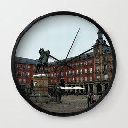 Plaza Mayor Retro Wall Clock